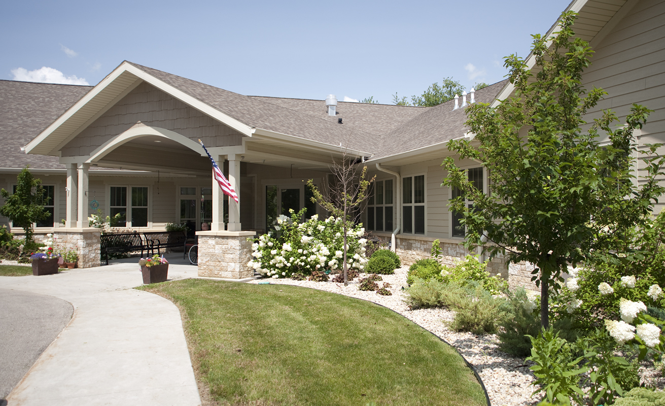 Home Again Assisted Living | Entrance | Cambridge, Wis. | JLA Architects