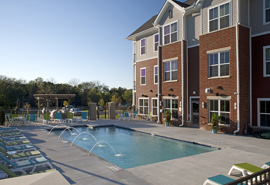 Elan Apartments pool area