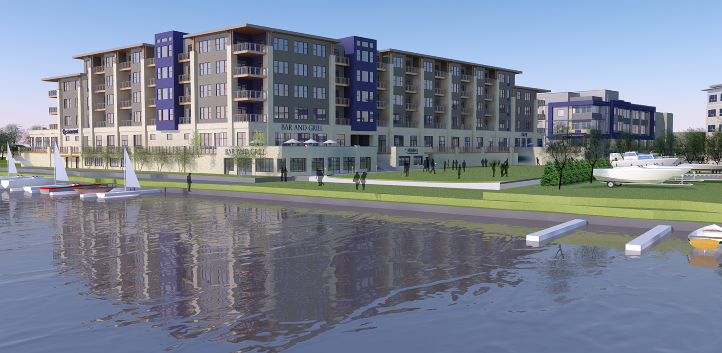 Monona Riverfront Mixed-Use development -Rendering
