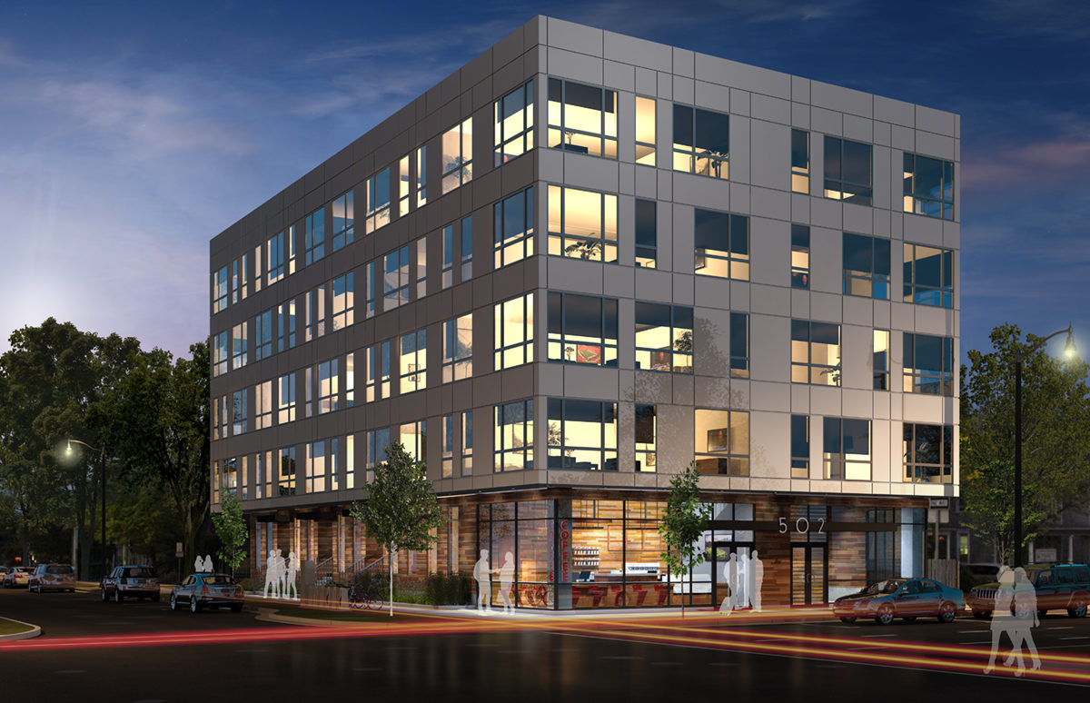 502 E WASHINGTON HOTEL - exterior rendering