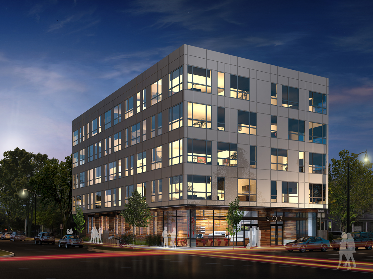 502 E WASHINGTON HOTEL - exterior rendering