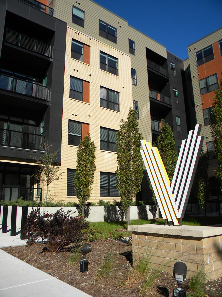 Sign | Vim & Vigor Luxury Apartments | Downtown Milwaukee | JLA Architects