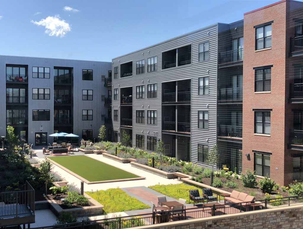 Courtyard | Synergy Apartments | Milwaukee area | JLA Architects