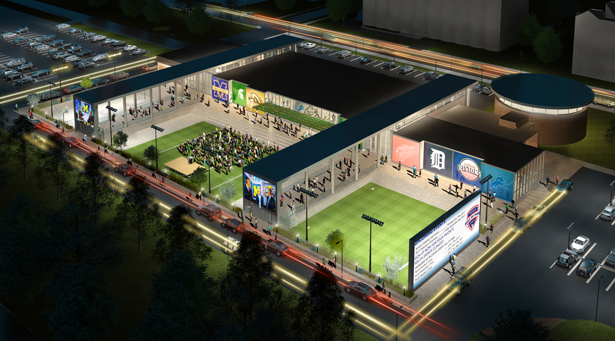 Michigan Sports Hall of Fame site rendering 2