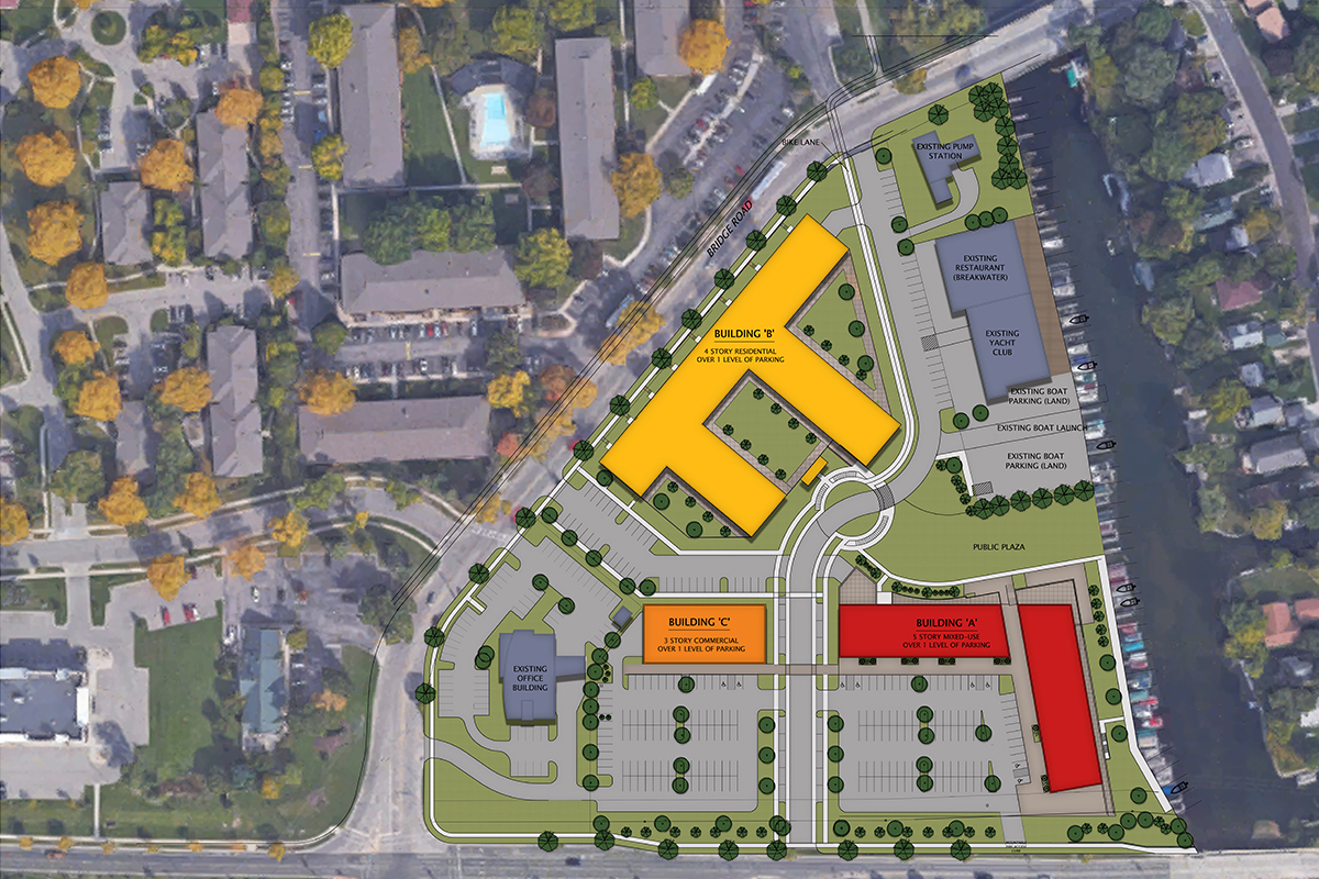 Monona Riverfront Redevelopment site plan