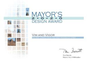 Vim + Vigor Apartments | 2020 Mayor's Design Award