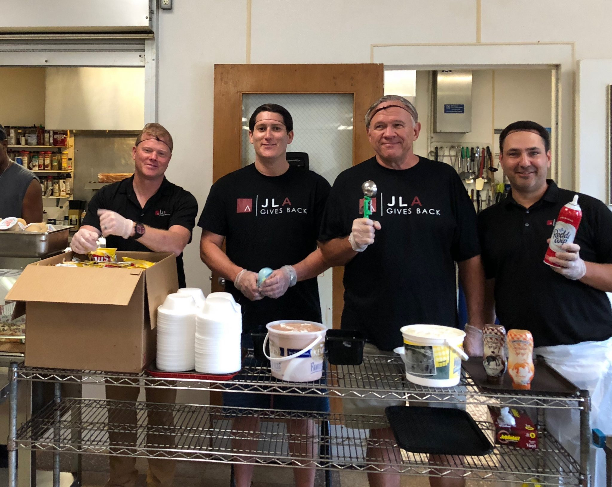 JLA Architects volunteering with Salvation Army