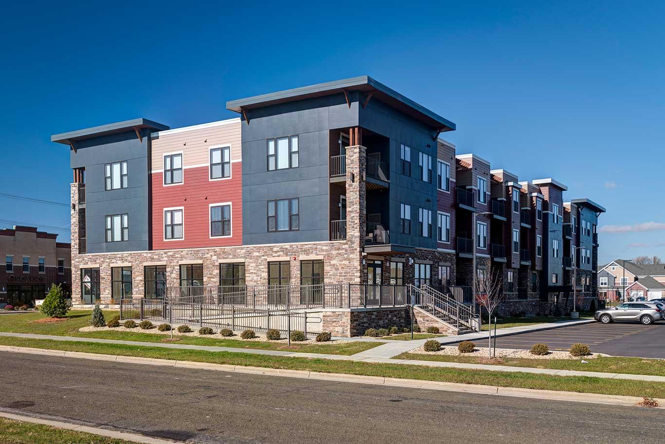 Southeast Corner | Stoneridge Commons | Sun Prairie, Wis. | JLA Architects