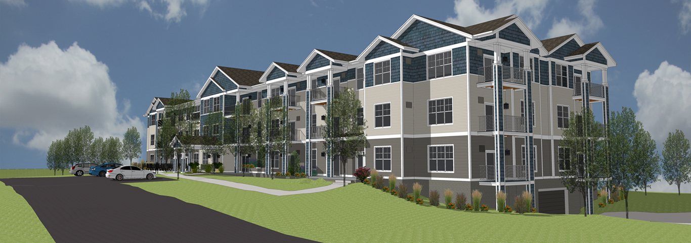 Entry | Spring Harbor Senior Living | Port Washington, Wis. | JLA Architects | Affordable Housing
