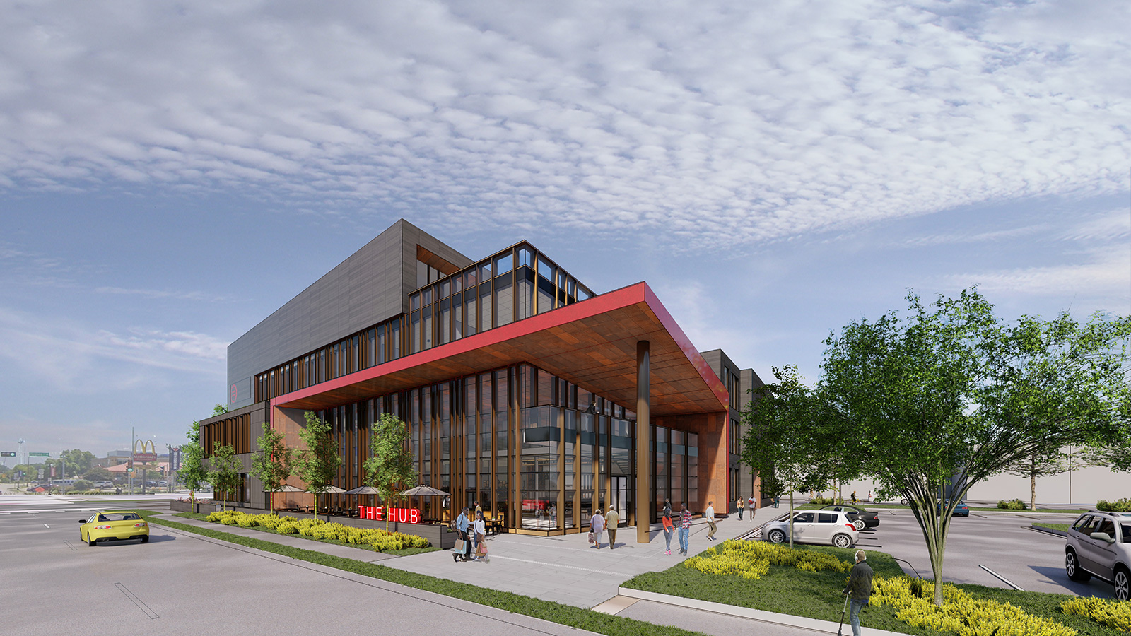 Entry of The Black Business Hub in Madison, Wis. | Architecture by JLA Architects